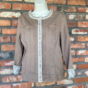 Chico's Jacket with silver embellishments